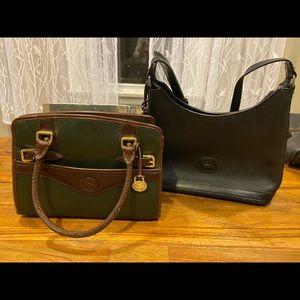 Two Dooney & Bourke vintage purses.